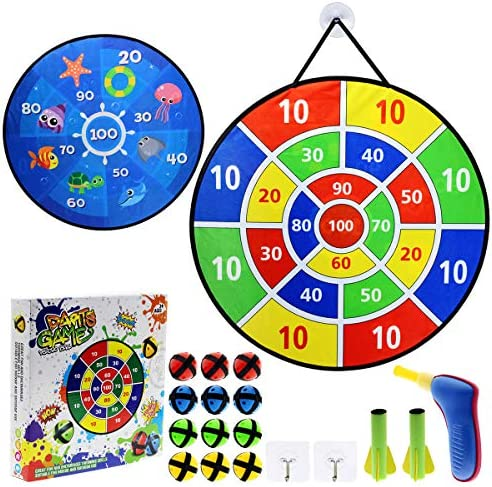 Maburaho 26 Inches Toys Dart Board Game for Kids and 12 Sticky Balls and 2 Dart Bullet Set Toy product image