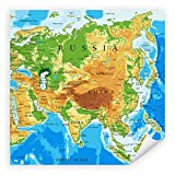 Postereck - 2455 - Asien Landkarte, Russland Schule Studium