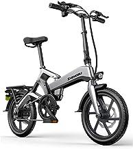 "zytyeu Electric Mountain Bike, Folding Bicycle Electric Bike for Adults Women, 250W Electric Bicycle 16"" with 48V Man E-Bi..."