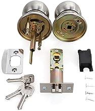Slot Roestvrij staal Ronde Bal Deur Knoppen Rotatie Lock Knobset Handvat Entrance Lock met 3 sleutels voor slaapkamers Woo...