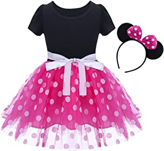 IBTOM CASTLE Baby Girls' Polka Dots Leotard Christmas Birthday Fancy Dance Costume Cosplay Tutu Dress up with 3D Ears Head...