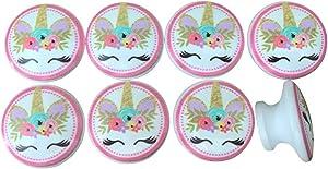 Set of 8 Unicorn Faces Cabinet Knobs