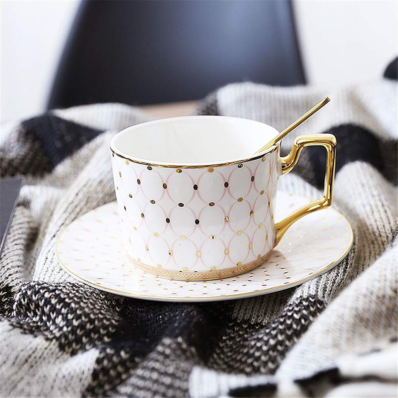 Tasse à café en céramique avec soucoupes Service à Tasses et Soucoupe en Porcelaine pour Service à thé pour 2set pour thé café, Maison (Couleur   G, Taille   Taille Unique)