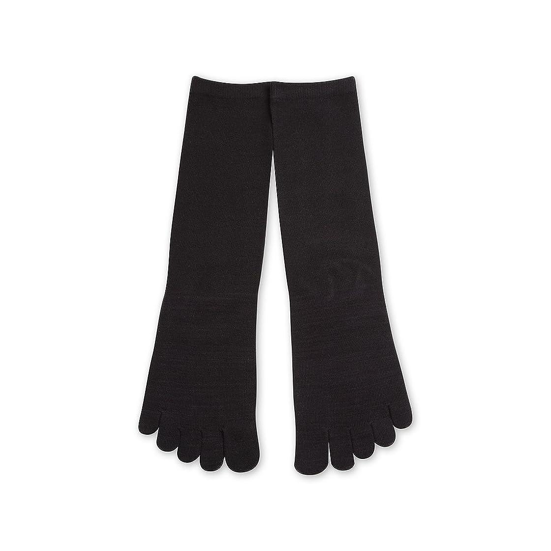 グラフィック過敏な形状Deol(デオル) 5本指 ソックス 男性用 靴下 25~27cm 黒