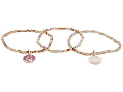 Alex and Ani Gossip Girl, Xoxo Stretch Bangle Bracelet (Shiny Rose Gold) Bracelet