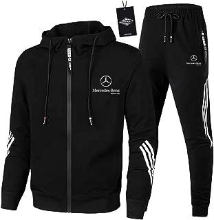 AGLOAT Herren und Damen Trainingsanzug Jogginganzug Sportanzug Jogginghose Zweiteilige Trainingsjacke Pants Stripe mit Kap...