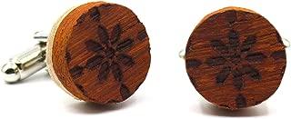 Gemelos de Madera Andalusian Tiles. Colección de Moda Hombre: línea Boda y Eventos. Originales para Camisa. Diseño Inspirado en Azulejos andaluces. Regalo Elegante