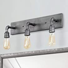 LALUZ Bathroom Vanity Lights, Water Pipe Wall Sconce for Powder Room, Dressing Room, Bedroom, Entryway,  (3 Heads) A03379