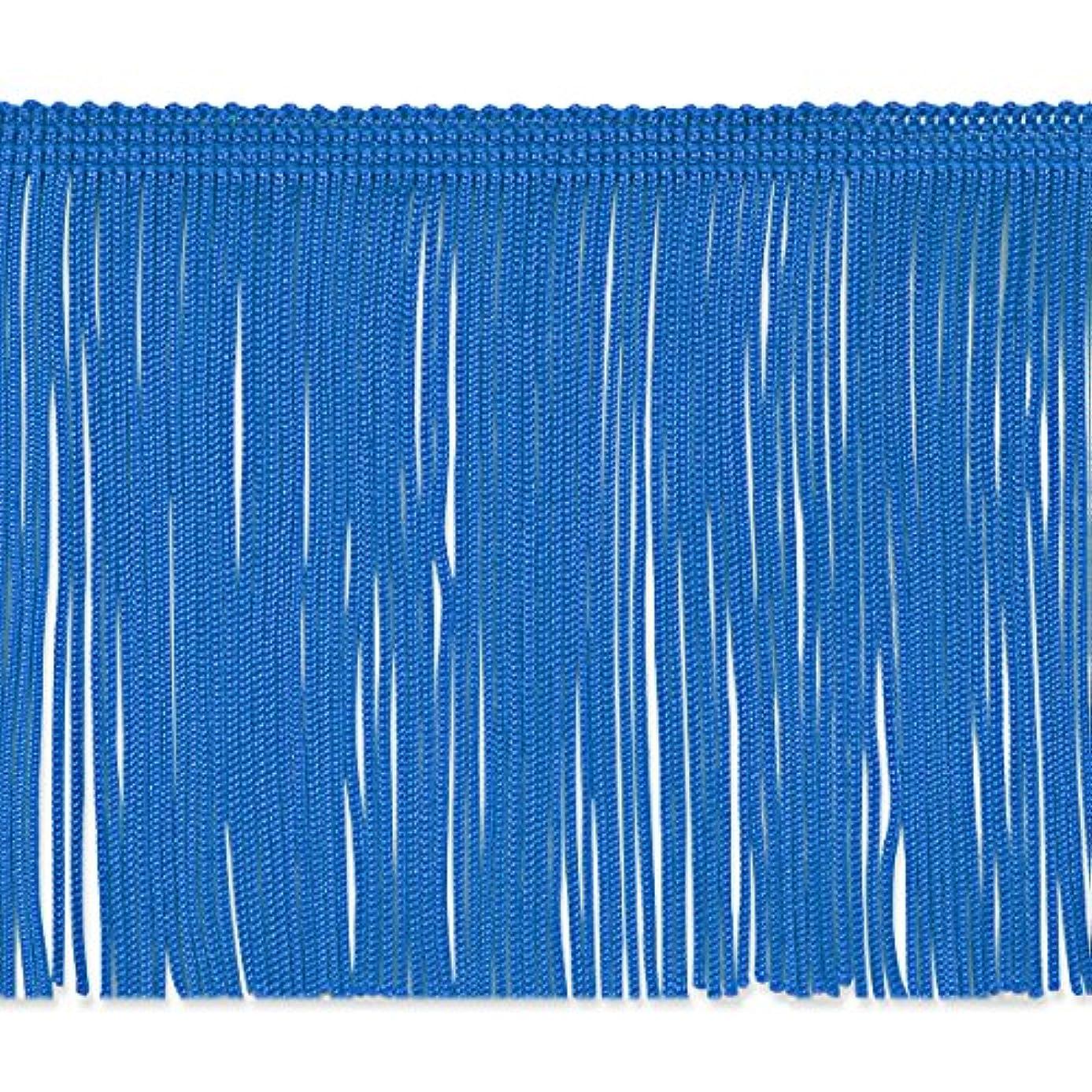 Expo International 4-Inch Chainette Fringe Trim Embellishment, 20-Yard, Royal Blue