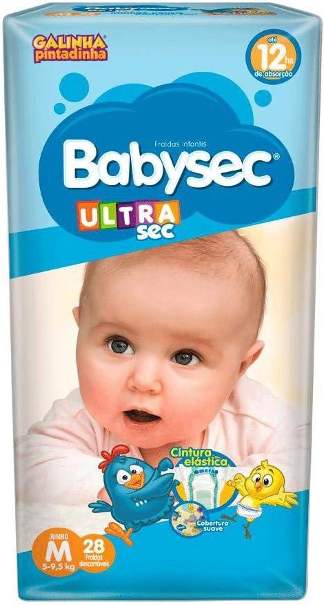 Fralda Babysec Galinha Pintadinha Ultrasec M 28 Unids, Babysec, M