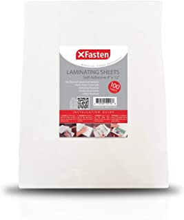 XFasten Self-Adhesive Laminating Sheets, 9 x 12 Inches (100-Pack)