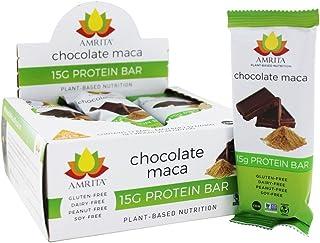 Amrita Plant-based Gluten-free Protein Bar Chocolate Maca - Pack of 12