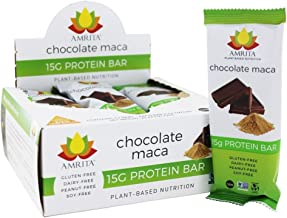 Sponsored Ad - Amrita Plant based Paleo Friendly Nut Free Chocolate Maca Protein Bar - Pack of 12 - Gluten Free Protein Ba...