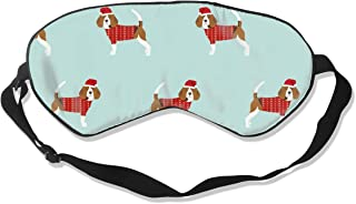 Beagle Christmas Sweater Cute Dog Design Christmas Sleep Mask Pack Men and Women Or Children Eye Mask No Pressure Eye Masks for Sleep & Travel