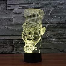 JYHW 3D usb tafellamp 7 kleuren veranderende LED baby slaap nachtlamp kaars man verlichting kerstgeschenken slaapkamer bed...