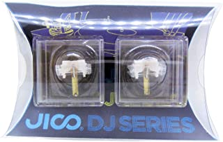 日本精機宝石工業株式会社 JICO レコード針 SHURE N44-7/DJ用交換針 【2個セット】 丸針 針カバー付 192-44-7/DJ two-piece ホワイト