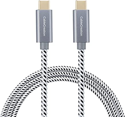 USB Type C Cable 10ft, CableCreation USB-C to USB-C Braided Data & Charging Cable (20V,3A) up to 480Mbps Compatible Apple Macbook(Pro), Nintendo Switch, Galaxy S9/S9+, Pixel XL 2,etc (Space Gray)