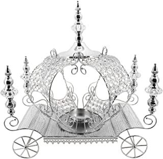 Event Decor Direct Crystal Pumpkin Carriage Candle Holder 23.5 inch - Silver