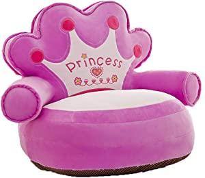 Yamyannie-Nursery Princess Baby Sofa Chair Soft Cushion Toddler Armchair Kids Couch Bed Backrest Chair Baby Plush Toys Infant Seats Furniture for Living Room Bedroom  Color Purple  Size 50x50cm