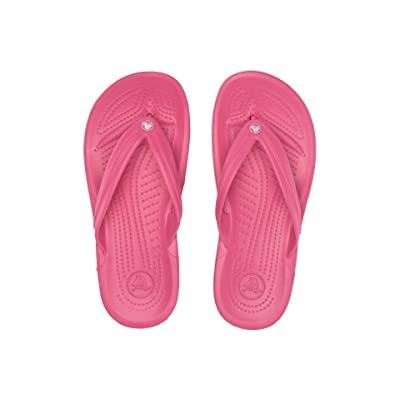 Crocs Crocband Flip (Paradise Pink/White) Shoes