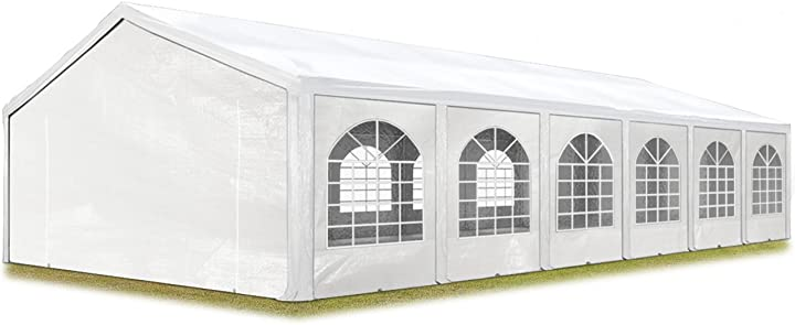 Tendone per feste 5x12 m gazebo party per sagre, mercati ca. pe 240 g/m² bianco  - toolport B00V67BX6G
