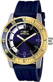 ساعة انفيكتا للرجال 12847 سبيشاليتي ستانلس ستيل وبسوار ازرق