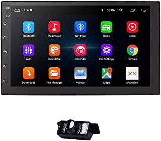 Ossuret Android 10 Universal Car GPS Navi 2 Din Car Stereo Radio with Free Backup Camera Support Bluetooth Mirror-link FM ...