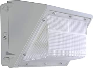 LED White Wall Pack - 60W 5000K Commercial Outdoor Light Fixture, White, (Out-Door Security Porch Lighting For Industrial Out-Side) 120-277V