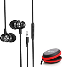 WeCool Mr.Bass W001 Snug Fit Metallic in Ear Earphone with Rich Bass and Surround Sound Earphones Wired Plus Carry Case(Bl...