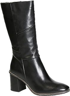 artículos de promoción Tacón Medio de de de Cuero Negro de Las Mujeres botas hasta la Rodilla  orden en línea