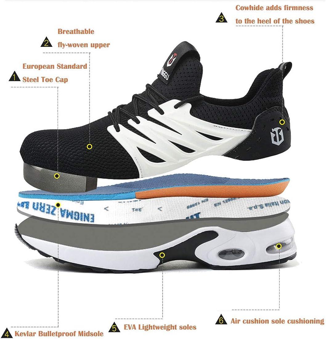 SROTER Sicherheitsschuhe Herren Damen Arbeitsschuhe mit Stahlkappe Atmungsaktiv Leicht Sportlich Sneaker Schutzschuhe