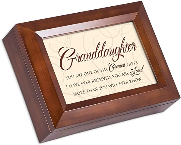 Cottage Garden Granddaughter One The Greatest Gifts Wood Finish Jewelry Box Plays You Are My Sunshine