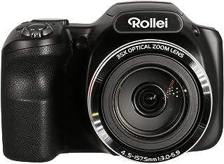 Rollei Powerflex 350 WiFi - Càmara con Súper Zoom 35x con distancia focal estabilizada hasta 875 mm Sensor Sony de 16 megapíxeles 26 modos de escena y 17 efectos Arte Full HD - Negro