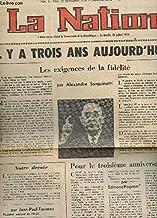 NATION - NUMERO 2872 - LES 9 ET 10 NOVEMBRE 1973 / IL Y A TROIS ANS AUJOURD'HUI .. / A COLOMBEY LES DEUX EGLISE, L'HOMMAGE DES COMPAGNONS DE LIBERATION / POUR LE 3e ANNIVERSAIRE PAR E. POGNON ...