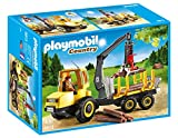 Playmobil Vida en el Bosque - Country Transportador de Leña con Grúa Playsets de Figuras de jugete, Color Multicolor (Playmobil 6813)