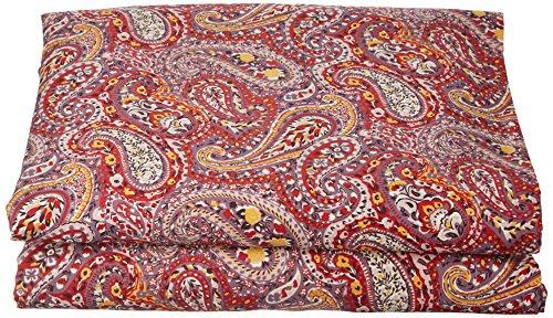 ESSIX Drap de lit, Satin de Coton, Carmin, 180x290 cm