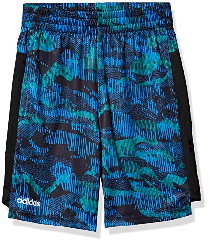 adidas Boys' Big Active Sports Athletic Mesh Short, Core Camo Team Royal Blue, X-Large