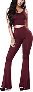 SoloSummer Women's High Waisted Flared Bell Bottom Long Pants