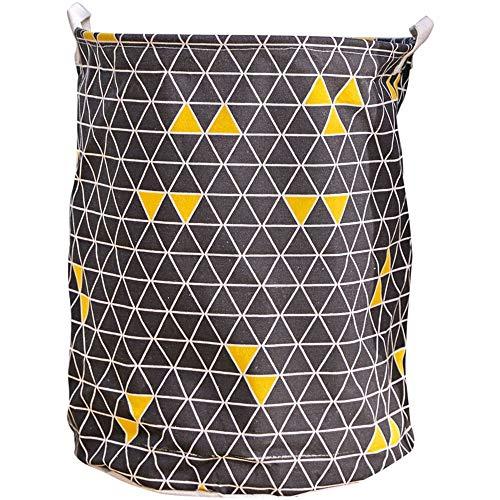 ZXXFR Nordic toilettas, stof, vouwbaar, vuile kleding, winkelmandje, huishouden, wasmand (diameter 40 cm hoog 50 cm)