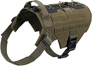 EXCELLENT ELITE SPANKER Tactical Dog Harness No-Pull Service Working Dog Vest Adjustable Military Patrol K9 Dog Harness with Handle