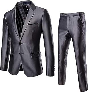 AOWOFS Men's 2 Piece Suit Slim Fit Non-Iron Men's Suit Wedding Party