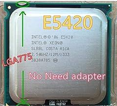 Intel Xeon E5420 2.5GHz/12M/1333Mhz/80W Processor Equal to Core 2 Quad Q6600 Q9300 CPU Can Work LGA 775