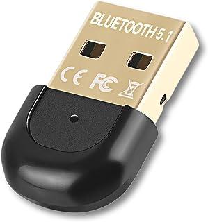 iAmotus Adaptador Bluetooth 5.1, Mini Bluetooth USB Dongle para PC, Portátil, Impresora, Auriculares, Altavoces, Teclados,...
