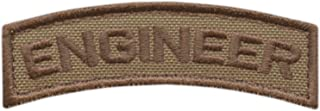 LEGEEON Engineer Shoulder Tab Badge Tan Coyote US Army Tactical Morale Fastener Patch