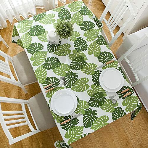 YEEXCD Mantel Mantel de Hoja de Palma Lavable Rectangular Polvo para Cocina Comedor Picnic Parte Escritorio Decoracion,Verde,140 * 220cm