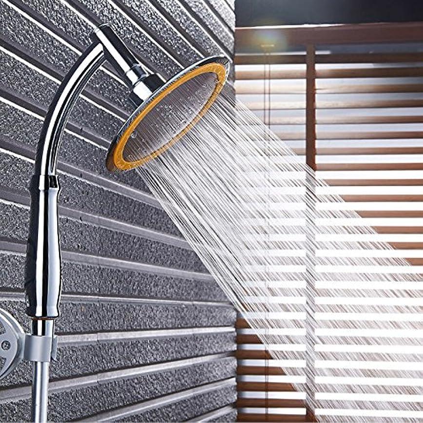 クスコ活気づく侵入ハンドヘルドデュアルユースシャワーヘッド、加圧されたシャワーヘッド、6インチのシャワーヘッドは、上から大きな水を噴霧することができます