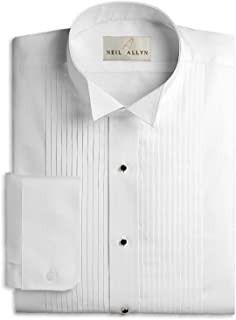 Neil Allyn Boys Tuxedo Shirt Poly/Cotton Wing Collar 1/4 Inch Pleat