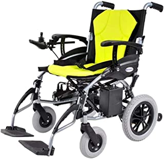 RDJM De Peso Ligero Plegable sillas de Ruedas eléctrica Doblar y Viajes de Peso Ligero motorizado Energía Eléctrica Vespa Silla de Ruedas, Silla de Ruedas eléctrica Aviación Viaje Seguro