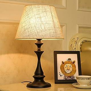 Lampe de Table Lampe de Table en Lin Tissu Fer Peinture polie Lampe de Table Salle à Manger Cuisine Chambre Apprentissage ...