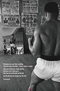 MUHAMMAD ALI Champions Quote Motivational Boxing Cool Wall Decor Art Print Poster 24x36 inch